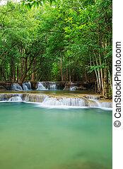 Level 2 of Huay Mae Kamin waterfall in Khuean Srinagarindra...