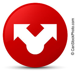Share icon red round button