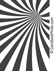 Vector 3D Tunnel Background. Spiral Hole Illusion Template