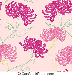 vector seamless pattern with flowers - hand drawing vector...