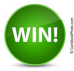 Win elegant green round button