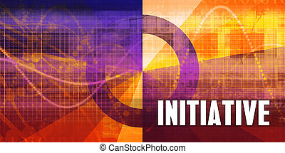 Initiative Focus Concept on a Futuristic Abstract Background