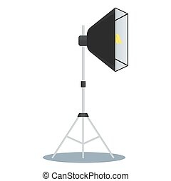 softbox front side - Softbox color icon. Equipment for photo...