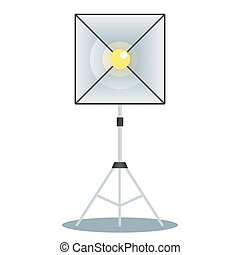 softbox front view - Softbox color icon. Equipment for photo...