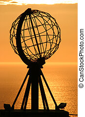 The North Cape Globe at midnight #3