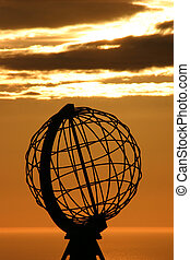 The North Cape Globe at midnight #4