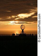 The North Cape Globe at midnight #1