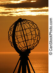The North Cape Globe at midnight #5