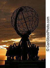 The North Cape Globe at midnight #2