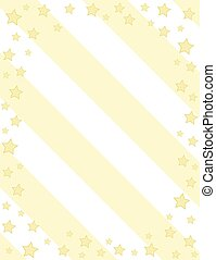 Creative minimalistic Thank You card with yellow stars