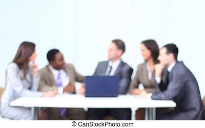 avbild, team.business, bakgrund, affär, suddig