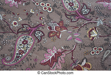 cloth painted texture folksy rustic flower pattern