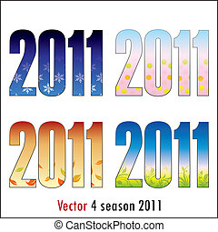 4 season 2011 - Vector 4 season 2011 in color