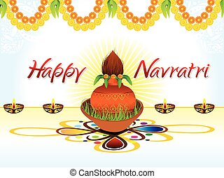 abstract artistic creative navratri background.eps -...