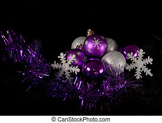 Christmas Ornaments - Shiny Christmas Baubles and...