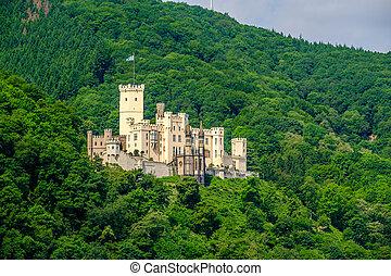 Stolzenfels Castle at Rhine Valley near Koblenz, Germany.
