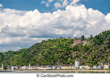 Katz Castle at Rhine Valley near St. Goarshausen, Germany