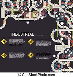 Industrial Pipeline Background