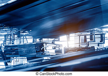 Pickup truck production line - Automobile manufacturing...