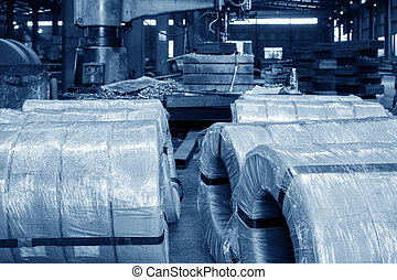 Factory raw materials - Steel structure of the factory raw...