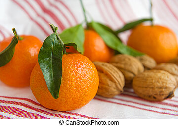 Tangerines and walnuts