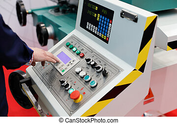 operator working with control panel