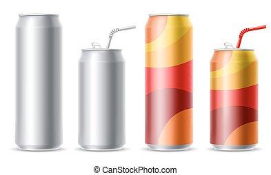 Metallic cans set