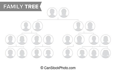 Genealogical Tree Template Vector. Family History Tree With...