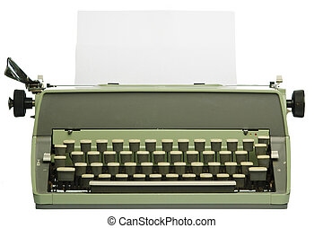 Retro typewriter with blank paper