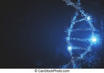 Glowing DNA background