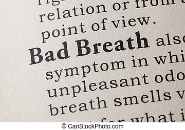 definition of Bad Breath - Fake Dictionary, Dictionary...