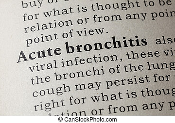 definition of Acute bronchitis - Fake Dictionary, Dictionary...