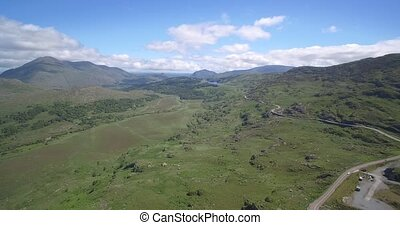 Aerial, The Molls Gap, County Kerry, Ireland - Native...