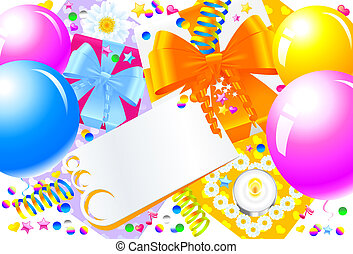 Birthday Party - Birthday or party background. Write your...
