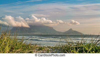 Cape Town, South Africa (view from Bloubergstrand with Table...