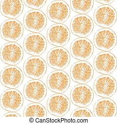 orange fruit pattern vector illustration