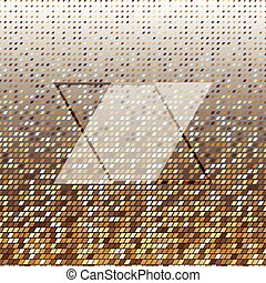 Parallelogram gold halftone dot abstract background