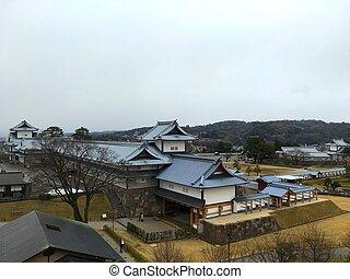 Kanazawa japanese castle in Ishikawa Japan - View of...