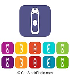 Deodorant icons set illustration in flat style in colors...