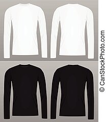 Long sleeve t shirt template