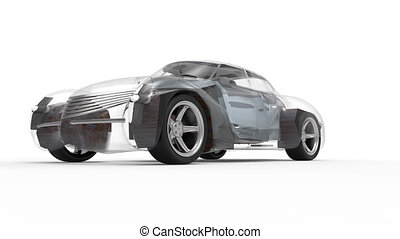 Generic and futuristic model of car - Generic and futuristic...