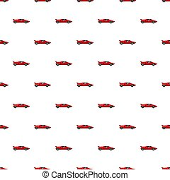 Red sport car side view pattern