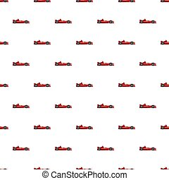 Sport car side view pattern seamless repeat in cartoon style...