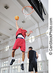 magic basketball - young and healthy people man have...