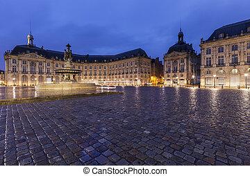 Fontaine des Trois Graces on Place de la Bourse in Bordeaux....