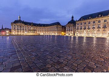 Place de la Bourse in Bordeaux. Bordeaux,...