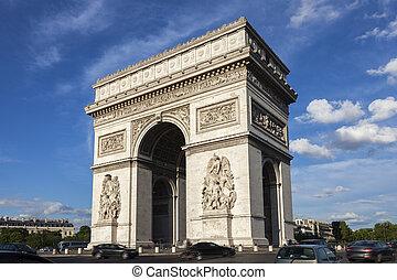 Arc de Triomphe in Paris. Paris, France.