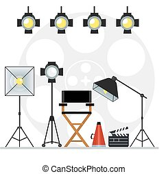 videoproduction studio concept - Film directors chair with...