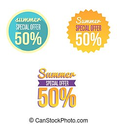Special summer offer sales discount vector picture for...