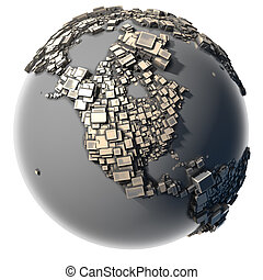 Metal Earth - the block structure - Earth, consisting of a...